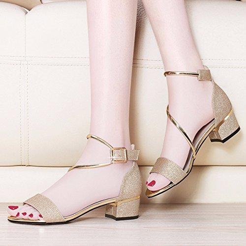 JRFBA-Zapatos Zapatos de Mujer con Chino y Chino Sandalias.