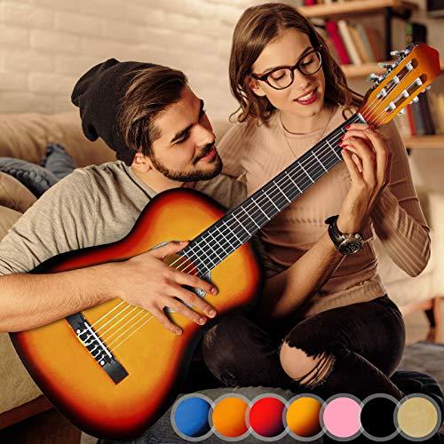 Akustikgitarre - 4/4, aus Holz, 40 Zoll, 6 Saiten, Sunburst - Konzertgitarre, Klassikgitarre, Gitarre, Westerngitarre für Einsteiger, Jugendliche und Erwachsene
