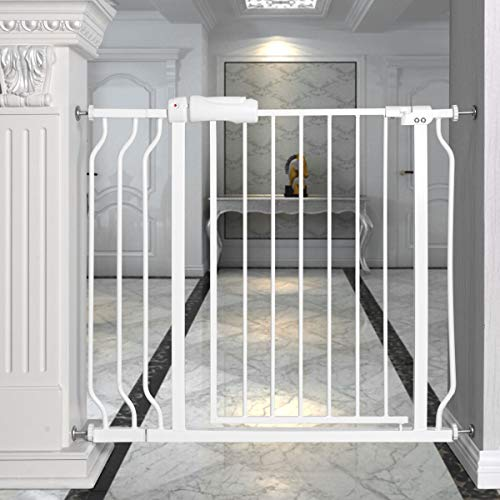 Petsite Baby Safety Gate Walk Through Pet Dog Gate for Stairs Door Hallway, Width Adjustable 29-38.5 Inch