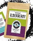 Birds & Bees Teas - Elderberries Organic - Dried 1 lb Bulk, Makes Great Black Elderberry Tea and Sambucus...