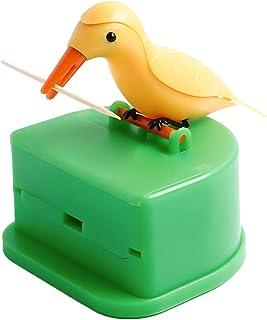 Outgeek Toothpick Holder Creative Bird Automatic Pop-up Toothpick Box Toothpick Dispenser