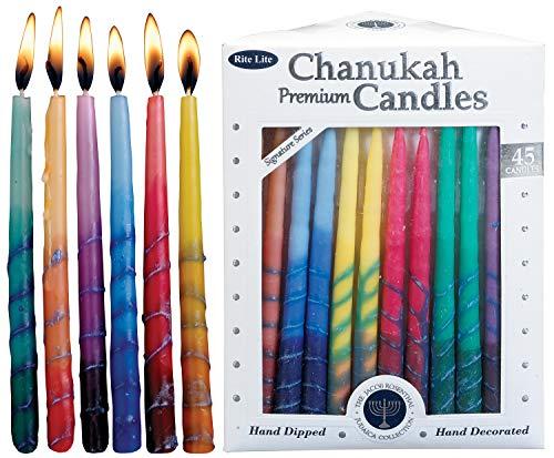 Rite Lite LTD C-31-M Chanukah Candles, 45 CT, Multicolor, Count