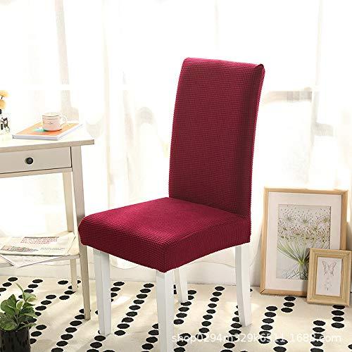 Fundas elásticas para asiento de silla para comedor, [Juego de 4/6] fundas extraíbles y lavables, color beige jacquard moderno elástico para sillas