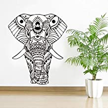 Mandala Yoga Pegatina De Pared Elefante Pegatina De Pared Vinilo Hogar Sala De Estar Decoración Papel Tapiz Artístico Extr...