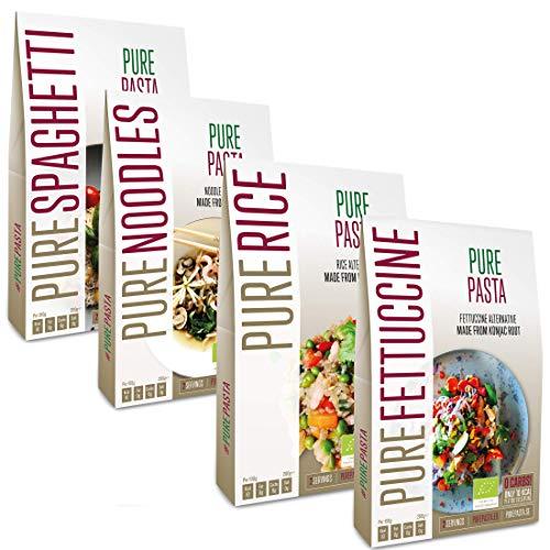 PurePasta Konjac Spaghetti – Noodles- Riso Senza Glutine 10-pack 200 grammi | Pasta Gluten Free Di...