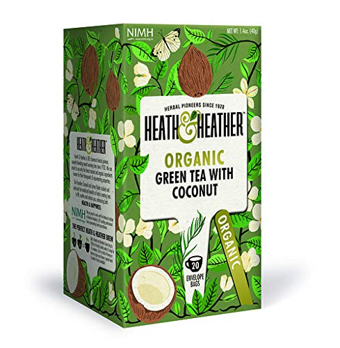 2021 Organic Green Tea with Coconut 20 per Free Shipping New Pack Certified USDA bags