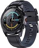 YLB Smart Watch 1 28 Pulgadas Touch Full Reminder Recordatorio Pulsera Pulsera IP68 Responsable Bluetooth Watch (Color : Black and Gray)