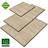 casa pura Alfombras Salon Bambu - Alfombra Madera Bambú | Magenta | Estera de bambú Antideslizante | 2 Colores, Varios tamaños (Natural, 50x80 cm)