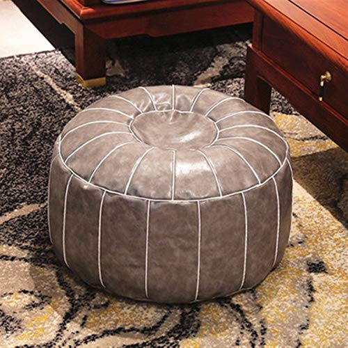 BUYYUB PU Leather Lazy Susan Cover (no Filler) Removable Vintage Decorative Cushion Cover Living Room Bedroom (Color : 02cover only)