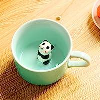 3D Coffee Mug Cute Cartoon Animal Ceramics Cup - Baby Animal Inside, Best Office Cup & Birthday Gift 8 OZ