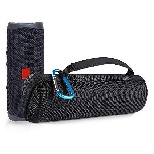 Poschell Hart Reise Schutz Hülle Etui Tasche für JBL Flip 4 Ein voll ausgestatteter wasserdichter & mobiler Bluetooth Lautsprecher, Schwarz