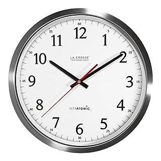 La Crosse Technology 404-1235UA-SS Ultratomic Analog Wall Clock, 14-Inch, Silver (B01CCHXTE2) | Amazon price tracker / tracking, Amazon price history charts, Amazon price watches, Amazon price drop alerts