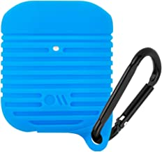 Case-Mate - Airpods Water Resistant Case - Tough - Compatible with Apple Airpods Series 1 & 2 - Cobalt Blue w/Black Carabiner