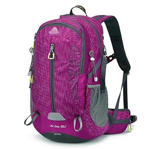 sac à dos randonnée Sac d'escalade en plein air sac à bandoulière homme sac Mme sac sport cycliste randonnée épaule Sacs à dos de randonnée ( Couleur : Rose red , taille : 38L )