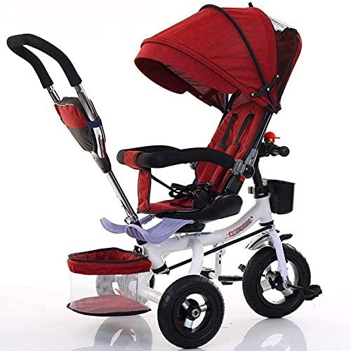 Cochecito para bebés para recién nacido, triciclo Cochecito ligero de bicicleta, plegable compacto Bassinet Girls y Boys Newdler Carruaje recién nacido, Posel de protección UV, adecuado desde el nacim
