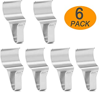 WISH Vinyl Siding Hangers Hooks (6 Pack), Heavy Duty Stainless Steel Low Profile No-Hole Vinyl Siding Clips for Hanging