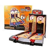 Tablero Minibasket Juego de Tiro Juego de 2 Jugadores Shootout Aros Baloncesto con Dispositivo de puntuación para niños,Juguetes de Mesa Diversión Familiar Mini Baloncesto Disparar los Dedos