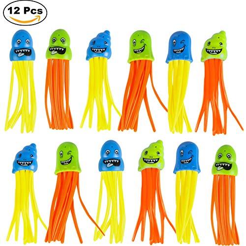 Pack 12 Pulpos Juego acuático atrapa Pulpos Juego para Bucear Pesca pulpos Aqua World CB Toys Colorbaby
