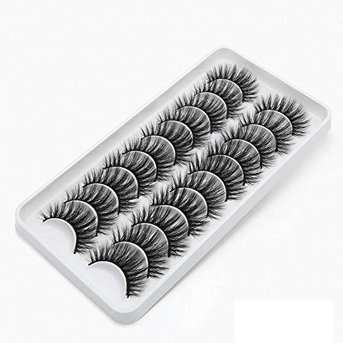 12/10/8 Paare 3D Wimpern Falsche Wimpern Natürliche / Dicke Lange 10-15mm Wimpern Makeup Beauty Extension Tools-3
