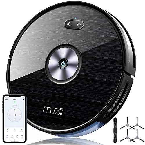 Muzili Robot Vacuum Cleaner, Upgraded 1900Pa Powerful Suction, 2.7in Super-Thin, Smart Self-Charging Robotic Vacuum Cleaner, Auto Sweeper with 6 Cleaning Modes for Pet Hair, Carpet and Hard Floors
