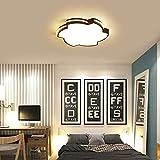 QUETAZHI hängelampe 30W Moderne LED-Schlafzimmerlampe Deckenleuchte Three-Color Dimmen (3000-6500K), 50cm Einfach kreativ Warm Farbe Romantische Hochzeit Raum Schlafzimmer Lampe, Black Frame QU-217