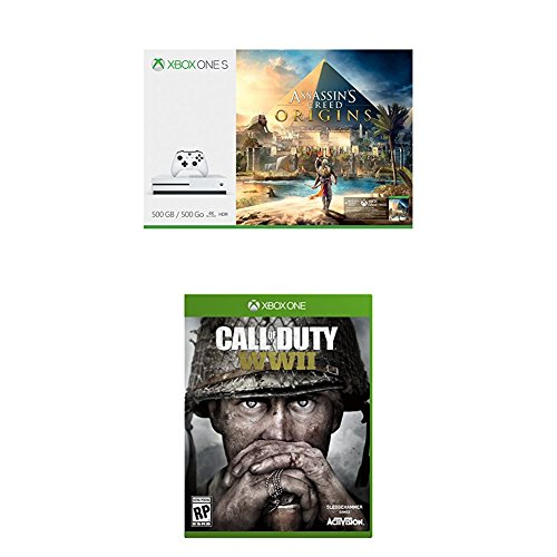 Xbox One S 500GB Assassins Creed Origins Bundle + Call of Duty: WWII