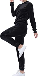 Women's Velour Hoodie and Pants Pullover Tracksuits Sports Sweat Suit Sets, S-3XL