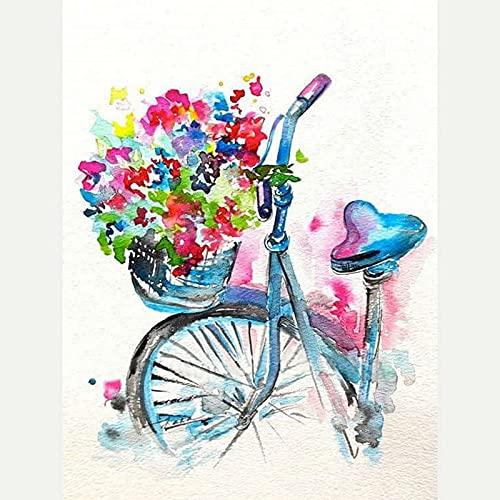 VMQNMF Kit De Pintura De Diamantes 5D Cesta De Flores De Bicicleta...