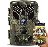 Suntekcam - Cámara de caza WiFi 24 MP 1080P Upgrade Bluetooth, wifi con detector de movimiento, visión nocturna, cámara de caza con movimiento de visión nocturna, resistente al agua IP66
