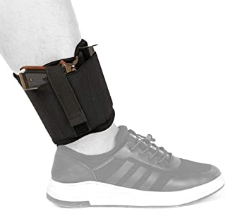 Depring Ankle Holster for Concealed Carry Hidden Pistol Carrier for Right Left Handed Use Fits Subcompact Compact Handguns