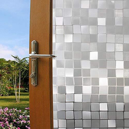 Emmala raamfolie, privacyfolie, ondoorzichtig, zelfklevend, deurfolie, badkamer, plakfolie, 45X200cm, unicaat (A)
