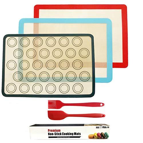 ZCOINS 3 stuks siliconen bakmat set, herbruikbare bakplaat