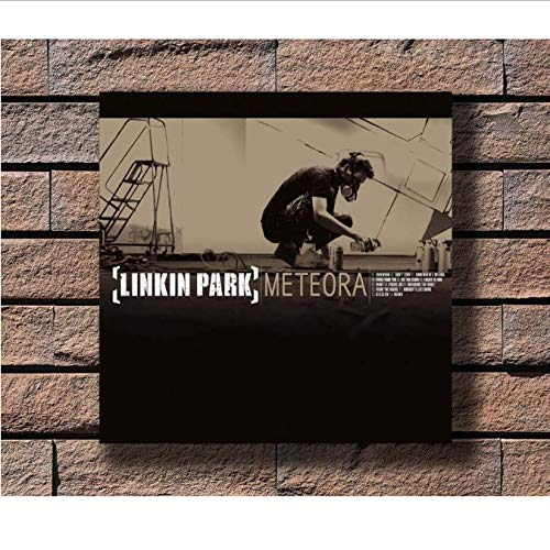 Zahuishile Linkin Park Meteora Musik Rapper Album Cover Stoff Dekoration Kunst Poster Wand Leinwand 40X60 cm Ohne Rahmen
