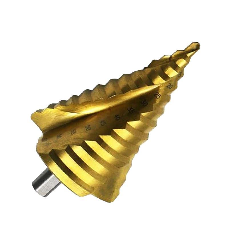 保持する飛び込むめる6-65mm ステップドリル(13段 ) 穴あけ 面取り 切削工具 HSS鋼 チタンコーティン 12mmシャンク