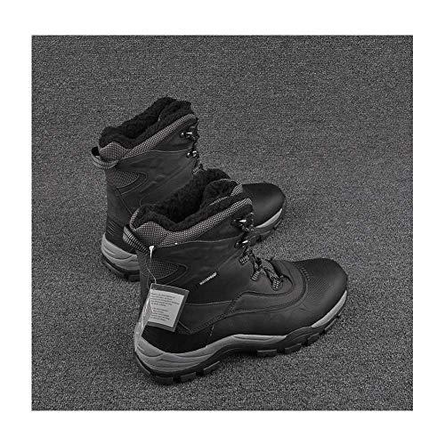 FACAI Botas De Caza para Senderismo Al Aire Libre Botas De Trabajo Magnum para Hombre Botas De Trabajo Impermeables para Senderismo Zapatos De Cuero para Senderismo Escalada Goretex,Black-45