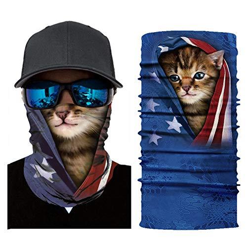 WLXW Taktische Reitmaske, Atmungsaktiver Tier-Tiger-Print Mit Sonnencreme, Magisches Kopftuch Für Männer Und Frauen Im Freien, 9,8 X 19,6 cm,014