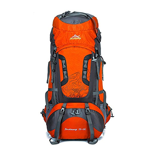 WYXIN75 L + 5 L sac à dos en plein air sac à dos étanche escalade pêche sac à dos randonnée randonnée sac de camping en plein air randonnée alpinisme sac, f