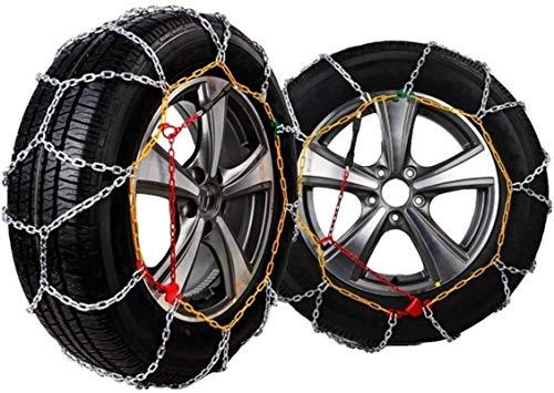 WYJW Cadenas de Nieve, Cadenas de Nieve de Invierno para neumáticos de Ruedas de Coche, Cadena de neumáticos de tracción, Cadena Antideslizante de Emergencia, Accesorios de Coche para f
