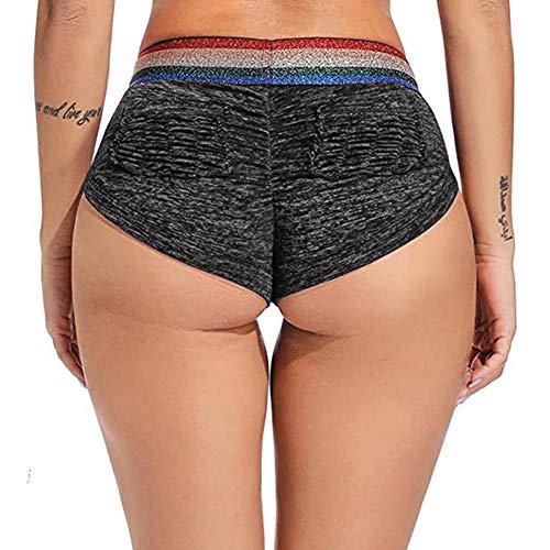 SEASUM Women Sports Short Scrunch Butt Pants Gym Running Jogging Girl Summer Casual Yoga Short Leggings High Waisted M