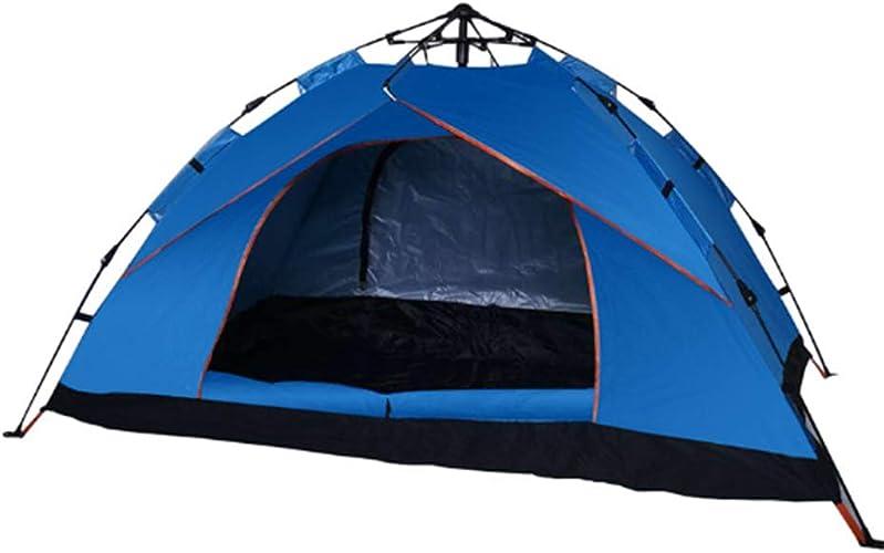 Tente EntièreHommest Intégrée 3-4 Personnes Tente Ouverte en Plein Air, Propice à La Randonnée Camping 210  140  115CM