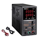 DC Power Supply Variable, Adjustable Switching Regulated Power Supply 30V 5A with 4 Digits Display, Course and Fine Adjustments(00.01V, 0.001A), Data Hold - 110V/115CM Alligator Leads MDC01