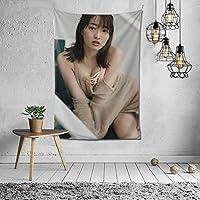 2021 吉永?由里 、 吉永アユリ、 Ayuri Yoshinaga タペストリー ファッションの絶妙な印刷リビングルームの入り口寝室の背景壁の装飾カスタマイズされた壁掛け布 (152*102cm)