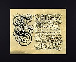 MLK Jr Quotation in Renaissance Calligraphy Fine Art Reproduction Print