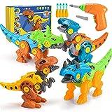 Toyzey Dinosaure Jouet Enfant 3 4 5 6 7 8 9 Ans,Jurassic World Dinosaure Jouet Garcon 3-9 Ans Perceuse Enfant Jeu 3 4 5 6 Ans Dinosaure Cadeau Fille 3-9 Ans Démontage Jouets Cadeau Garcon 3-9 Ans