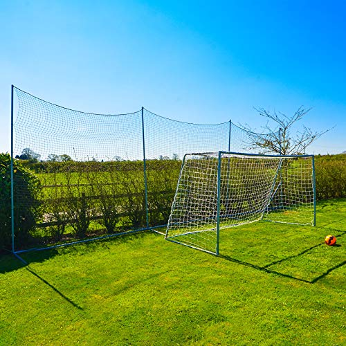 Stop That Ball System [5 Sizes] | Freestanding Ball Stop Netting for Backyard | Soccer Ball Stopping Net System - Behind Goal Soccer Net | Soccer Rebounder (02. 20ft Wide)