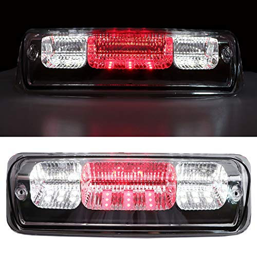 Youxmoto Rear Roof Center LED 3rd Brake Cargo Light, High Mount Stop Tail Light for 2004-2008 Ford F-150, 2007-2010 Ford Explorer Sport Trac, 2006-2008 Lincoln Mark LT (Chrome Housing Clear Lens)