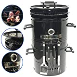EasyGoProducts Big Bad Barrel Pit Charcoal Barbeque 5 in 1 Can be Used as a Smoker...