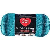 Coats & Clark Super Saver Ombre Yarn, 10 oz, DEEP Teal