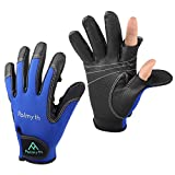 Palmyth Neoprene Fishing Gloves for Men and Women 2 Cut Fingers Flexible Great for Photography Fly Fishing Ice Fishing Running Touchscreen Texting Shooting Hiking Jogging Trekking Cycling Walking