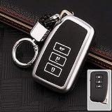 XTQDM Autoschlüsselschale,für Leuchtleder Auto Styling Key Cover Case Für Lexus RX200 ES200 ES250 ES300h NX200t GSI Auto Remote Key Case Shell Protector, A, Silber
